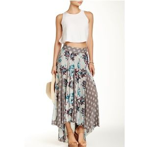 Free People High Low Floral Skirt